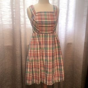 Adorable Lands end plaid lined dress